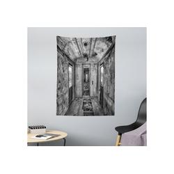 Wandteppich aus Weiches Mikrofaser Stoff Für das Wohn und Schlafzimmer, Abakuhaus, rechteckig, Schwarz Antike Eisenbahnwaggon 110 cm x 150 cm