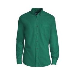 Jaspé-Flanellhemd, Modern Fit, Herren, Größe: S Normal, Grün, Baumwolle, by Lands' End, Irischer Hügel - S - Irischer Hügel