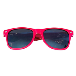 Nerdbrille Hornbrille 80s Retro Nerd Streber Sonnenbrille - pink