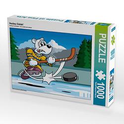 Hockey Eisbär! Lege-Größe 64 x 48 cm Foto-Puzzle Bild von jokatoons Puzzle