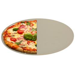 Pizzastein für Grill & Backofen 33 cm - max. 600°C - Schamott Steinplatte für Pizza Backstein