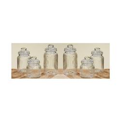 BigDean Vorratsdose 6er Set Bonbonglas Nostalgie Glas Behälter Vorratsdose, Glas, (6-tlg)