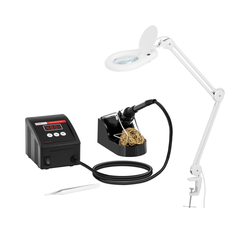 Set Lötstation mit Lupenleuchte - digital - 80 W - LED