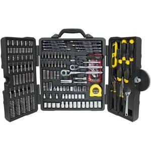 Stanley 73795 Werkzeugkoffer, 210 Teile, poliertes Chrom
