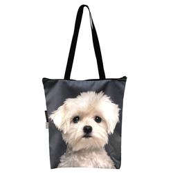 FERA Klassische Einkaufstasche mit dem Hund Malteser