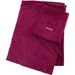 Reise-Decke mit integrierter Tasche, rot - rot