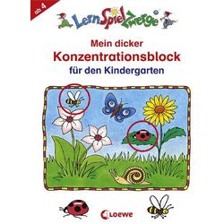 Lernspielzwerge Schreibblock Mein dicker Konzentrationsblock Kiga