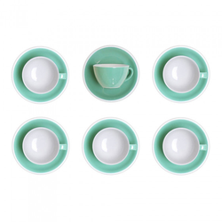 """Set von Latte-Tasse mit Untertasse Loveramics """"Egg Mint"""", 300 ml, 6 Stk."""