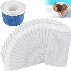 CAPRICIOUS 20 Stück Pool Skimmer Filter, Schwimmbad Skimmer Socken Dauerhafte Elastische Nylon Stoff Pool Skimmer Socken für Schwimmbad Korb
