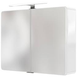 HELD MÖBEL Spiegelschrank Seattle Spiegelschrank 80 LED-Acryl-Aufbauleuchte weiß