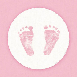 Ambiente Papierserviette Babyfüße Rosa, (20 St), 33 cm x 33 cm