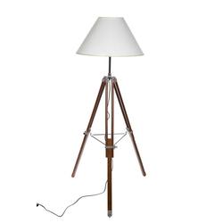 BIRENDY Stehlampe Riesige XXL Stativlampe Stehlampe im Dreibein Stativ Look F705 weißer Schirm