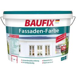 BAUFIX Fassadenfarbe wetterbeständig, weiß, 10 L weiß