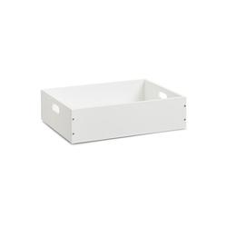 HTI-Living Aufbewahrungsbox Aufbewahrungskiste weiß stapelbar MDF, Aufbewahrungskiste 30 cm x 11 cm