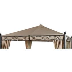 Grasekamp Ersatzdach zu Garten-Pavillon ROM 3x3m  Beige Party-Zelt Terrassen-Dach