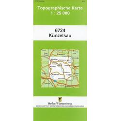 Topographische Karte Baden-Württemberg Künzelsau