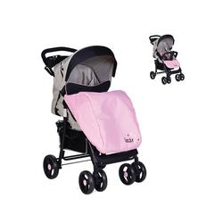Moni Kombi-Kinderwagen Kinderwagen Lea, Vorderräder schwenkbar, Fußabdeckung, Getränkehalter, rosa