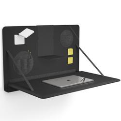 Brunner notebook - aufklappbarer Wandschreibtisch in Schwarz