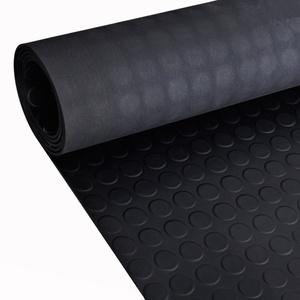 Festnight Gummi Bodenmatte Bodenschutzmatte Gummimatte Antirutsch Matte 5x1 m mit Punkte Schwarz
