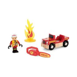 BRIO® Spielzeug-Eisenbahn Spielpäckchen Feuerwehr