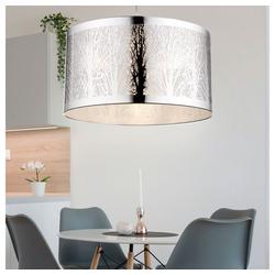 etc-shop LED Pendelleuchte, 7 Watt LED Hänge Lampe Edelstahl Pendel Leuchte Baum Muster Beleuchtung