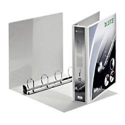 Leitz Präsentations-Ringbuch Pappe, Folie DIN A4+ 4 Ringe 40 mm Weiß