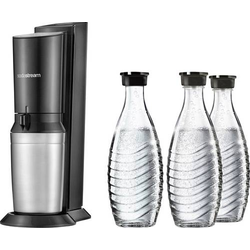 Sodastream Wassersprudler Crystal 2.0 Titan-Schwarz inkl. 1 Glaskaraffe, und 1 CO2-Zylinder