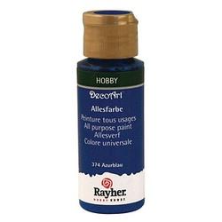 Rayher Allesfarbe Acrylfarben azurblau 59,0 ml, 1 St.