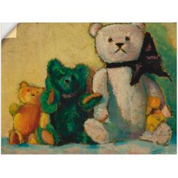 Artland Wandbild Die Bärenfamilie. 1926, Spielzeuge (1 Stück) 80 cm x 60 cm