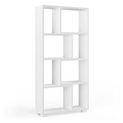 Vicco Raumteiler Domus 8 offene Fächer weiß Bücherregal Standregal Aktenregal