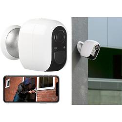 IP-Überwachungskamera, Full HD, WLAN & App, Batterie-Betrieb, IP54