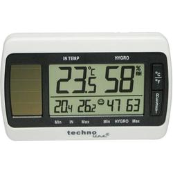 Techno Line Solar Thermo-Hygrometer Solar Thermo-/Hygrometer Weiß