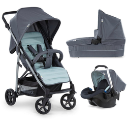 Hauck Kombi-Kinderwagen Rapid 4 Plus TrioSet, grey/mint, mit Babyschale; Kinderwagen
