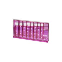 HMF Spardose 4710, Münzsortierer, 24 x 5 x 12 cm rosa
