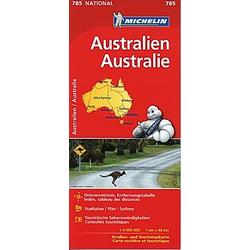 Michelin Karte Australien; Australie - Buch