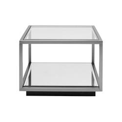KARE Beistelltisch Beistelltisch Luigi Klein Silber 50x50cm