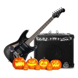Rocktile Halloween Bundle Pro ST60-SK E-Gitarre plus Rocktile Ripper G.30 Verstärker