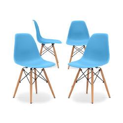 Premium Deswick Stuhl - Matt - Pack von 4 Blue