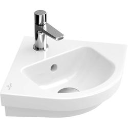 Villeroy & Boch Eck-Handwaschbecken SUBWAY 2.0 320 x 320 mm, ohne Überlauf pergamon
