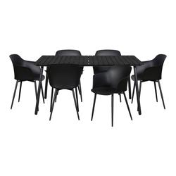 ebuy24 Essgruppe Dris Gartenmöbel Set 1 Tisch und 6 Stühle.