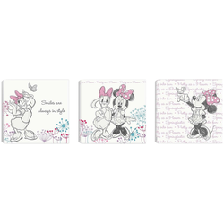 Disney Leinwandbild Minnie & Daisy, (Set)