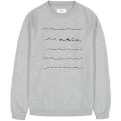 Makia - Waves Light Sweatshirt Light Grey - Sweatshirts - Größe: M