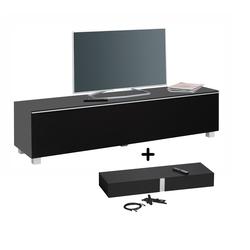 Maja Möbel Lowboard Soundboard 7738, 180 cm grau