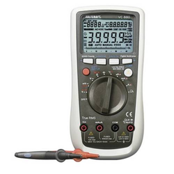 VOLTCRAFT VC880 Hand-Multimeter kalibriert (ISO) digital Datenlogger CAT III 1000 V, CAT IV 600V Anz