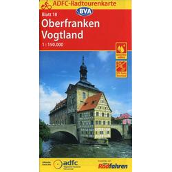 ADFC-Radtourenkarte 18 Oberfranken / Vogtland 1 : 150.000