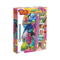 Clementoni® Puzzle Double Fun Puzzle als Messlatte 30 Teile - Trolls, Puzzleteile