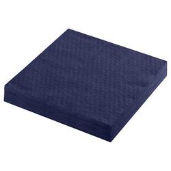 Servietten Prägeservietten 1-lagig, 33 x 33 cm, dunkelblau, 100 Stk.