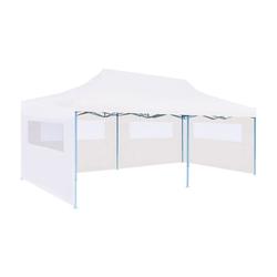 vidaXL Partyzelt vidaXL Pop-Up Partyzelt mit Seitenwänden Faltbar 3 x 6 m Stahl Weiß