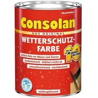 Consolan Wetterschutz-Farbe 10 l Grau seidenglänzend