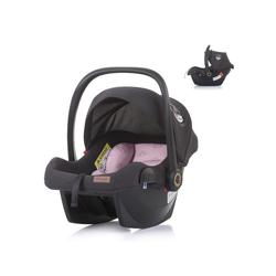 Chipolino Babyschale Babyschale Duo Smart Gruppe 0+, 2.65 kg, (0 - 13 kg), Sonnendach faltbar, Kissen rosa